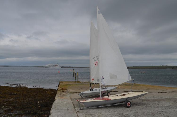 Hatston, Laser, sailing, low tide